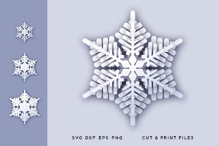Christmas Snowflake 3D Graphic 3D SVG By 2dooart