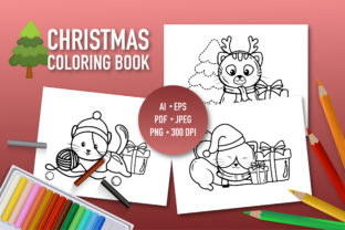 Christmas Colouring Book Graphic Coloring Pages & Books Kids By bongkarngraphic