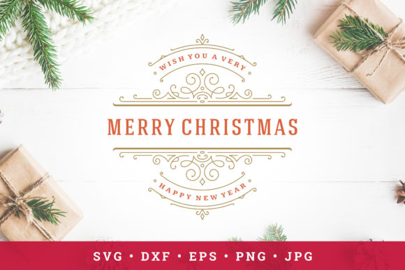 Christmas Saying Design with Ornament Graphic