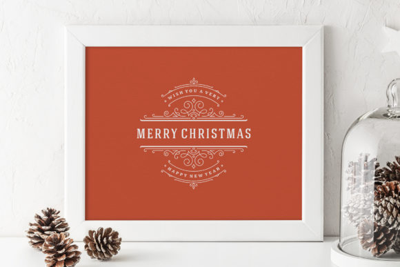 Christmas Saying Design with Ornament Graphic Download