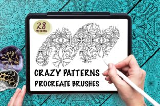 Print on Demand: Crazy Patterns Brushes for Procreate Graphic Brushes By Fleur de Tango