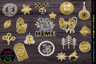 Cute Christmas Stickers - Christmas Graphic Illustrations By Happy Printables Club