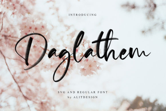 Print on Demand: Daglathem Script & Handwritten Font By Alit Design