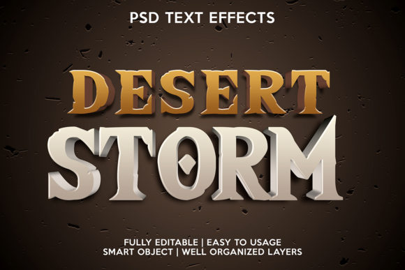 Desert Storm Text Effect Graphic Layer Styles By gilangkenter
