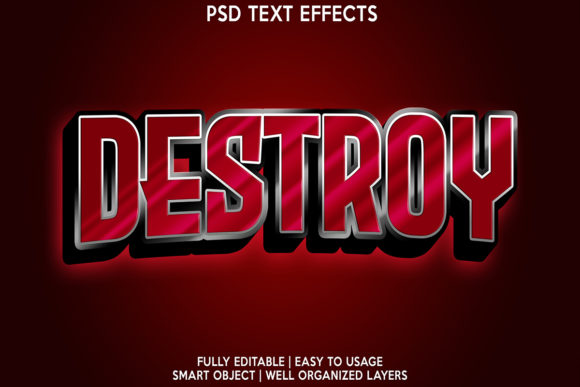 Destroy Text Effect Graphic Layer Styles By gilangkenter