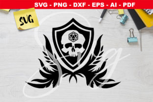 Print on Demand: DnD Skull Dice - D20 - Rpg Games Graphic Crafts By Novart