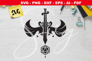 Print on Demand: DnD Sword Dice - D20 - Rpg Games Graphic Crafts By Novart