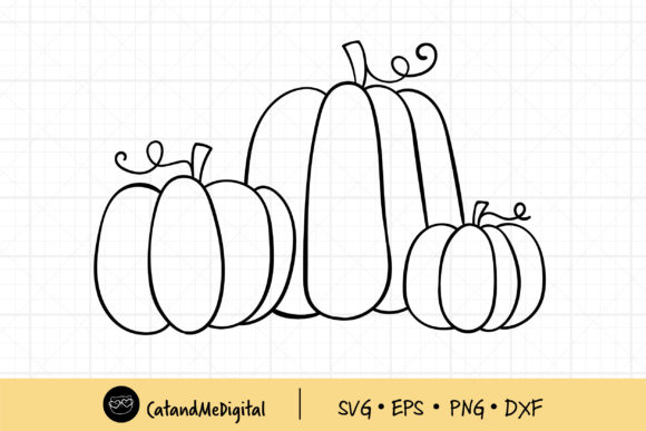 Draw Doodle Pumpkin Graphic Illustrations By CatAndMe