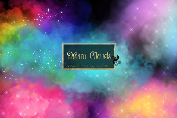 Print on Demand: Dream Clouds Clipart Gráfico Illustrations Por Digital Curio
