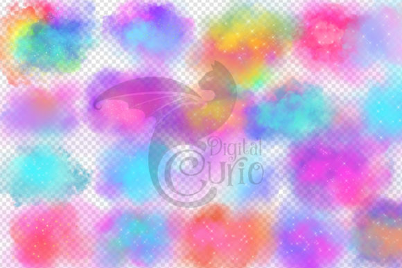 Dream Clouds Clipart Graphic Item