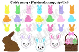 Easter Chocolate Bunny Mashmallow Egg Graphic Illustrations By bestgraphicsonline