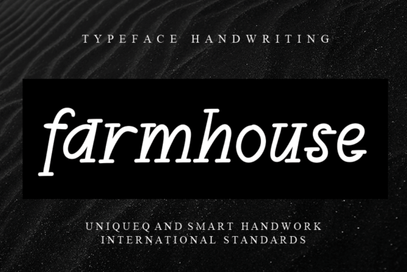 Print on Demand: Farmhouse Script & Handwritten Font By andikastudio
