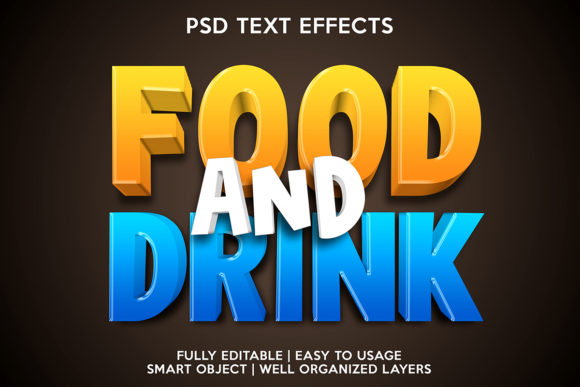 Food and Drink Text Effect Graphic Layer Styles By gilangkenter