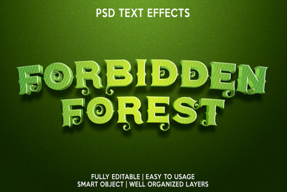 Forbidden Forest Text Effect Graphic