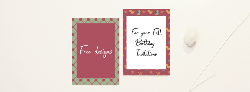Free designs for your Fall-themed birthday invitations