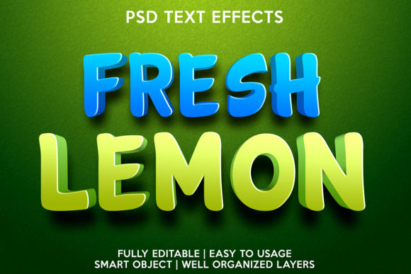 Fresh Lemon Text Effect Graphic Layer Styles By gilangkenter