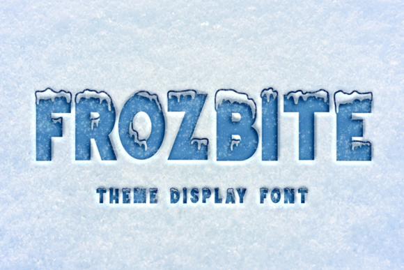 Print on Demand: Frozbite Display Schriftarten von Mozarella