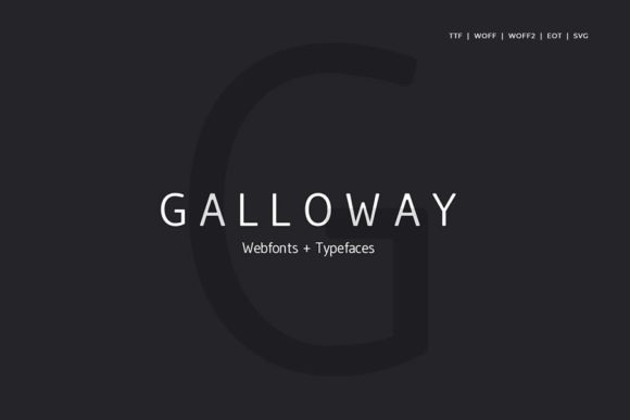 Print on Demand: Galloway Sans Serif Font By Webhance