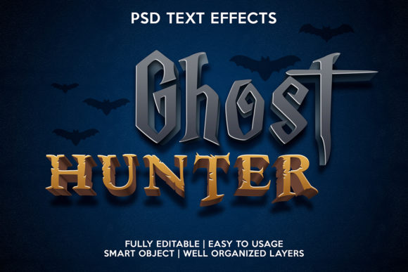 Ghost Hunter Text Effects Graphic Layer Styles By gilangkenter