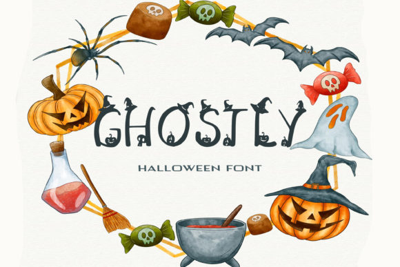Print on Demand: Ghostly Script & Handwritten Font By dmytroyarish