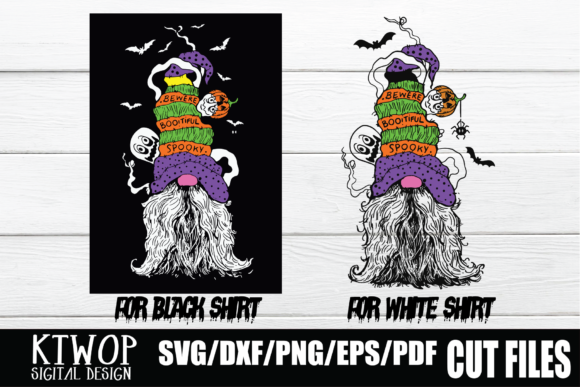Print on Demand: Gnome Halloween T-shirt SVG Graphic Crafts By KtwoP