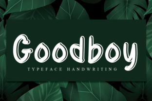 Print on Demand: Goodboy Script & Handwritten Font By andikastudio
