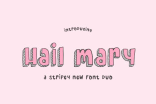 Print on Demand: Hail Mary Display Font By Salt & Pepper Designs