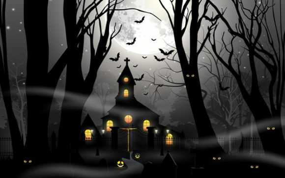 Halloween Background Vector Illustration Graphic Illustrations By artnovi