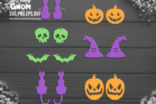 Halloween Earring Template SVG Graphic Crafts By babyGnom