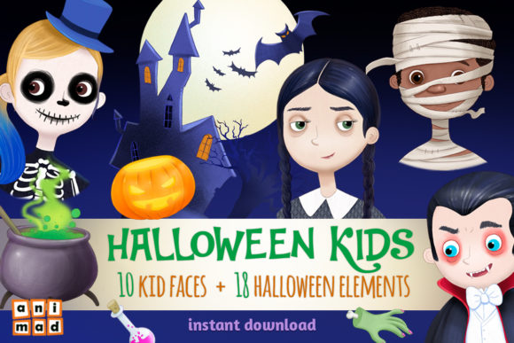 Halloween Kids Graphic Illustrations By AnimadDesign