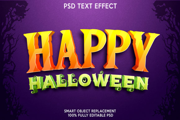 Happy Halloween Text Effect Graphic Layer Styles By gilangkenter
