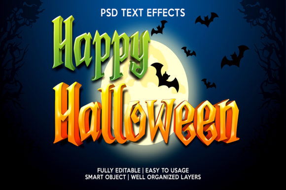 Happy Halloween Text Effect Premium Graphic Layer Styles By gilangkenter
