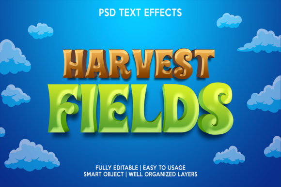 Harvest Fields Text Effect Graphic Layer Styles By gilangkenter