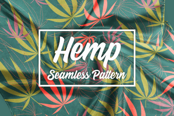 Hemp - Botanical Seamless Pattern Graphic Patterns By neauth