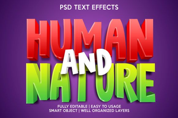 Human and Nature Text Effect Graphic Layer Styles By gilangkenter