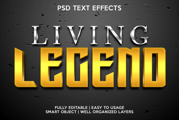 Living Legend Text Effect Graphic