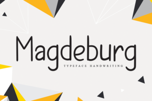 Print on Demand: Magdeburg Script & Handwritten Font By andikastudio