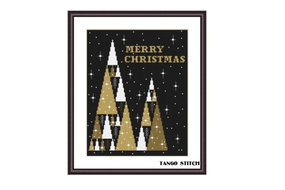 Merry Christmas Cross Stitch Pattern Graphic Cross Stitch Patterns By Tango Stitch