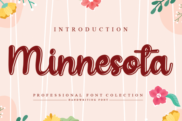 Print on Demand: Minnesota Script & Handwritten Font By andikastudio
