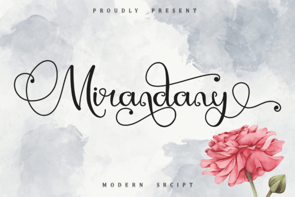 Print on Demand: Mirandany Script & Handwritten Font By Sakha Design