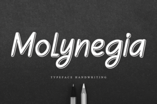Print on Demand: Molynegia Script & Handwritten Font By andikastudio