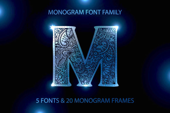 Print on Demand: Monogram Family Display Font By Red Ink