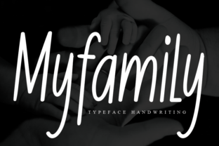 Print on Demand: Myfamily Script & Handwritten Font By andikastudio