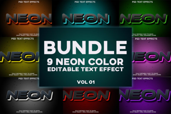 NEON COLOR TEXT EFFECT Graphic