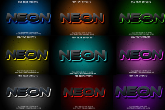 NEON COLOR TEXT EFFECT Graphic Download