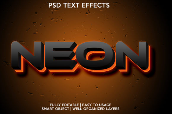 NEON COLOR TEXT EFFECT Graphic Item