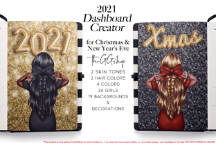 Print on Demand: New Year & Christmas Planner Kit Graphic Illustrations By TheGGShop