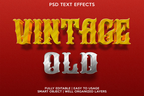 Old Vintage Text Effect Graphic Layer Styles By gilangkenter