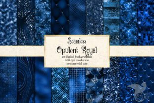 Print on Demand: Opulent Royal Digital Paper Graphic Textures By Digital Curio