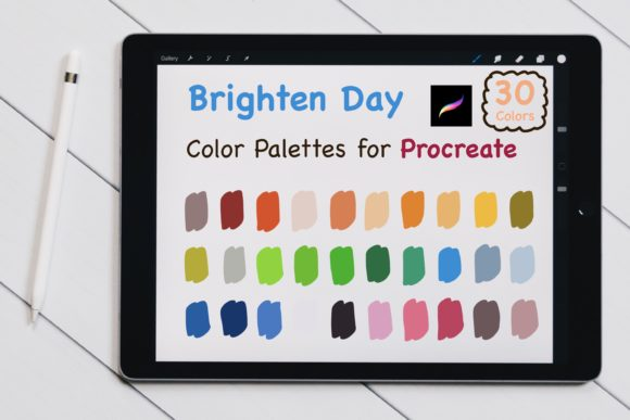 Procreate Color Palettes - Brighten Day Graphic Add-ons By jennythip